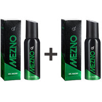 Mezno Mr. Macho-Magnetic Fragrance Deodorant Body Spray For Men-24 Hrs Fresh Power-No Gas Deo- 120ml (Buy 1 Get 1 Free )