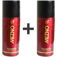 Mezno Passion Red - Long Lasting Fragrance Deodorant Body Spray For Men-24 Hrs Fresh Power Deo -150ml (Buy 1 Get 1 Free)