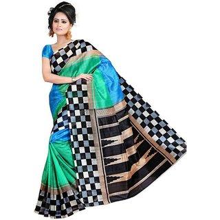 Thankar Multy Printed Bhagalpuri Saree