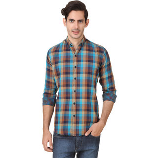 Audbury Blue Button Down Full sleeves Men Casual shirts