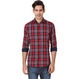 Audbury Red Spread Full sleeves Men Casual shirts