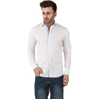 Audbury White Button Down Full sleeves Men Casual shirts