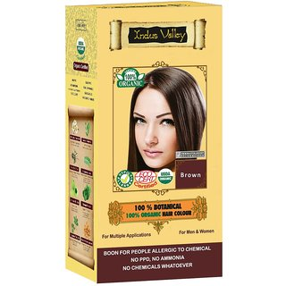 Indus valley Halal Organic Hair Color- Brown