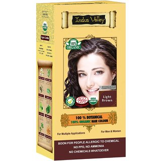 Indus valley Halal Organic Hair Color- Light Brown