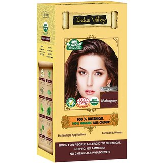 Indus valley Halal Organic Hair Color- Mahogany
