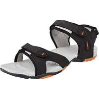 Men Black, Orange Sandals(Black, Orange