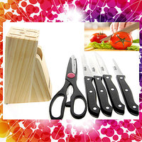 Kitchen Chopping Knife Set With Wooden Case