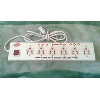 Power Strip - Extension Cord 6+1 (5 Amp) - Multipin Socket + 1 Fuse Extra