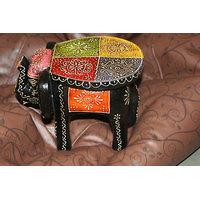 Aapkiduakan-Art-Shop-Handpainted-Durable-Wooden-Elephant-Stool-Showpiece-Antique  Aapkiduakan-Art-Shop-Handpainted-Dura