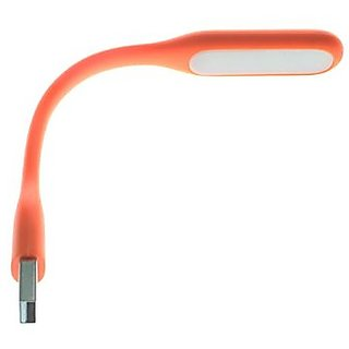 FASTOP USB Led Light for Pc Mobile Phones and USB Chargers with OTG Adapter (Orange)