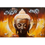 "Painting Of ""Buddha- The Enlightened One"" On Canvas"