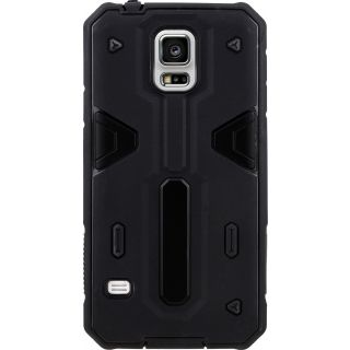 Galaxy S5 G900H Case (Cubix) Armor Defender Cover Hybrid Tpu + PC Dual Layer Back cover For Samsung Galaxy S5 G900H (Black)