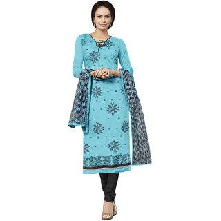 Sareemall Sky Blue Dress Material With Matching Dupatta 7DRC81009