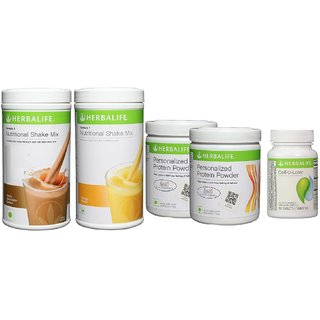 Herbalife Formula 1(1of Dutch Chocolate+ 1of Mango) + 2PPP + 1Cell-u-Loss