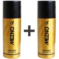 Mezno Lush Gold - International Fragrance Deodorant Body Spray For Men-24 Hrs Fresh Power Deo - 150ml (Buy 1 Get 1 Free)