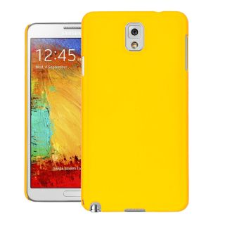 CUBIX Ultra Thin Rubberized Matte Hard Case Back Cover for Samsung Galaxy Note 3 N9000 (Yellow)