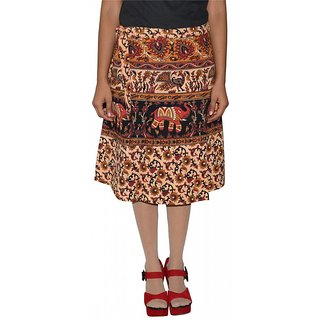 Gurukripa Shopee Printed Women's Wrap Around Skirts GSKWCK-A0296