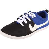 Sfeet Walk In Style Black And Blue Lace Up Causal Shoes For Men