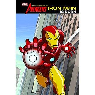 Marvel Story Book Iron Man Is Born (English) (Paperback  The Walt Disney)