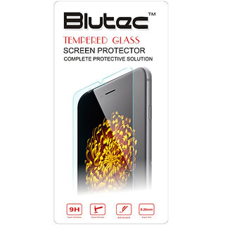 Blutec Tempered Glass Screen Protector For Micromax  Canvas Juice A77