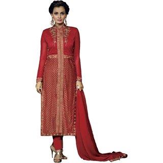 Style Amaze Present Designer Maroon Dress Material