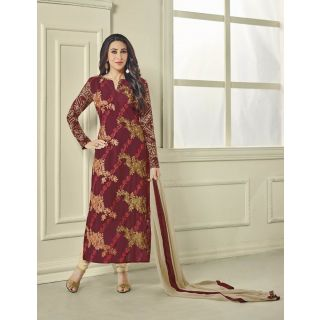 Style Amaze Present Designer Maroon Dress Material