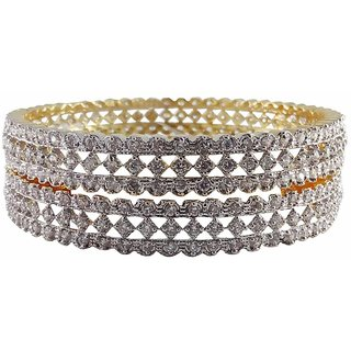 Rejewel American Diamond 18K Gold Plated  Bangles For Women