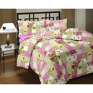 Factorywala Floral Single Dohar Pink (AC Dohar, 1 Blanket)