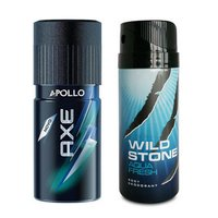 Wildstone With Axe Deodorant Combo Pack Of 2 Pcs For Men-150 Ml