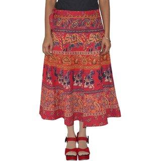 Gurukripa Shopee  Printed Women's Multicolor Wrap Around Skirts GKSWCC-A0144