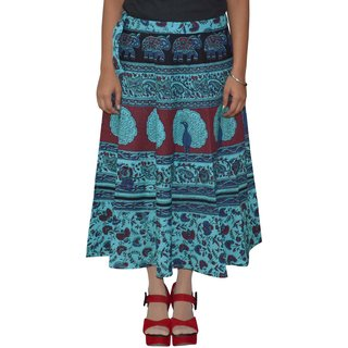 Gurukripa Shopee  Printed Women's Multicolor Wrap Around Skirts GKSWCC-A0151