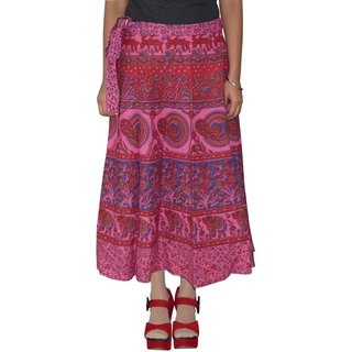 Gurukripa Shopee  Printed Women's Multicolor Wrap Around Skirts GKSWCC-A0154