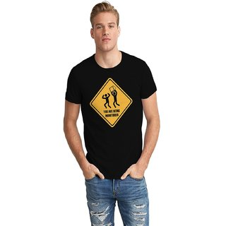 The Fappy Store Monitered Half Sleeve T-Shirt