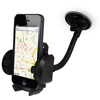 FASTOP Car Mount Cradle Holder Windshield Mobile Holder 360 Stand / GPS Suction Holder For   Hyundai EON D LITE