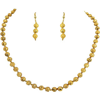 Golden collections One Gram Gold Plated Necklace Set