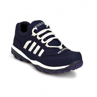 Groofer Mens Blue White Sports Shoes