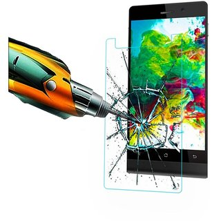 TEMPERED SCREEN GLASS PROTECTOR FOR INTEX 4.5E  (PACK OF 2)