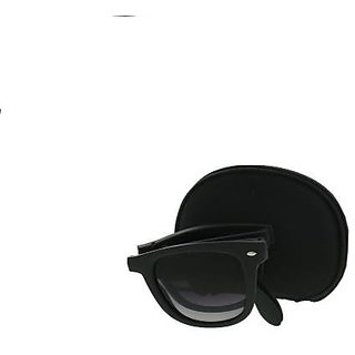 Foldable Wayfarerr Sunglassess with Stylish Frame Black for Men