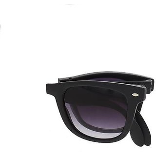 Foldable Wayfarerr Sunglassess with Stylish Frame Black for Women