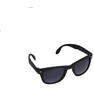 Foldable Wayfarerr Sunglassess with Stylish Frame Black for Sports Looks