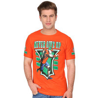 Attitude Men's Orange Round Neck T-Shirt