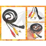 3.5mm 3.5 Jack 3 Pole To 3xrca 3 Rca Yellow White Red