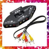 3 Way Audio Video Selector With 3 Pin Socket
