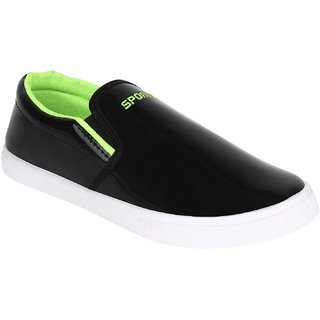 Bersache Men/Boys Black-487 Loafer Moccasins (Casual Shoes)
