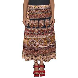 Gurukripa Shopee  Printed Women's Multicolor Wrap Around Skirts GKSWCC-A0170