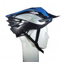 Roll over image to zoom in YONKER Cycling Helmet with Adjuster JUNIOR SIZE (Blue/Grey) New