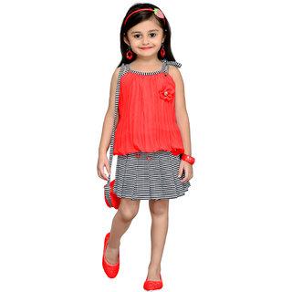 Aarika Gajri Girls Floral Design Top Skirt
