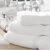 Set Of 3 Large Size Premium White 100% Cotton Bath Towels