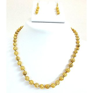 Golden collections One Gram Gold Plated Big Size Necklace Set