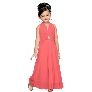 Mid Age Gajri Girls Self Design Gown